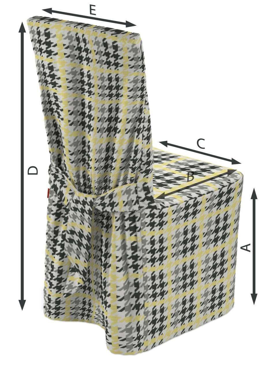 Stuhlhusse 45 x 94 cm von der Kollektion Brooklyn, Stoff: 137-79
