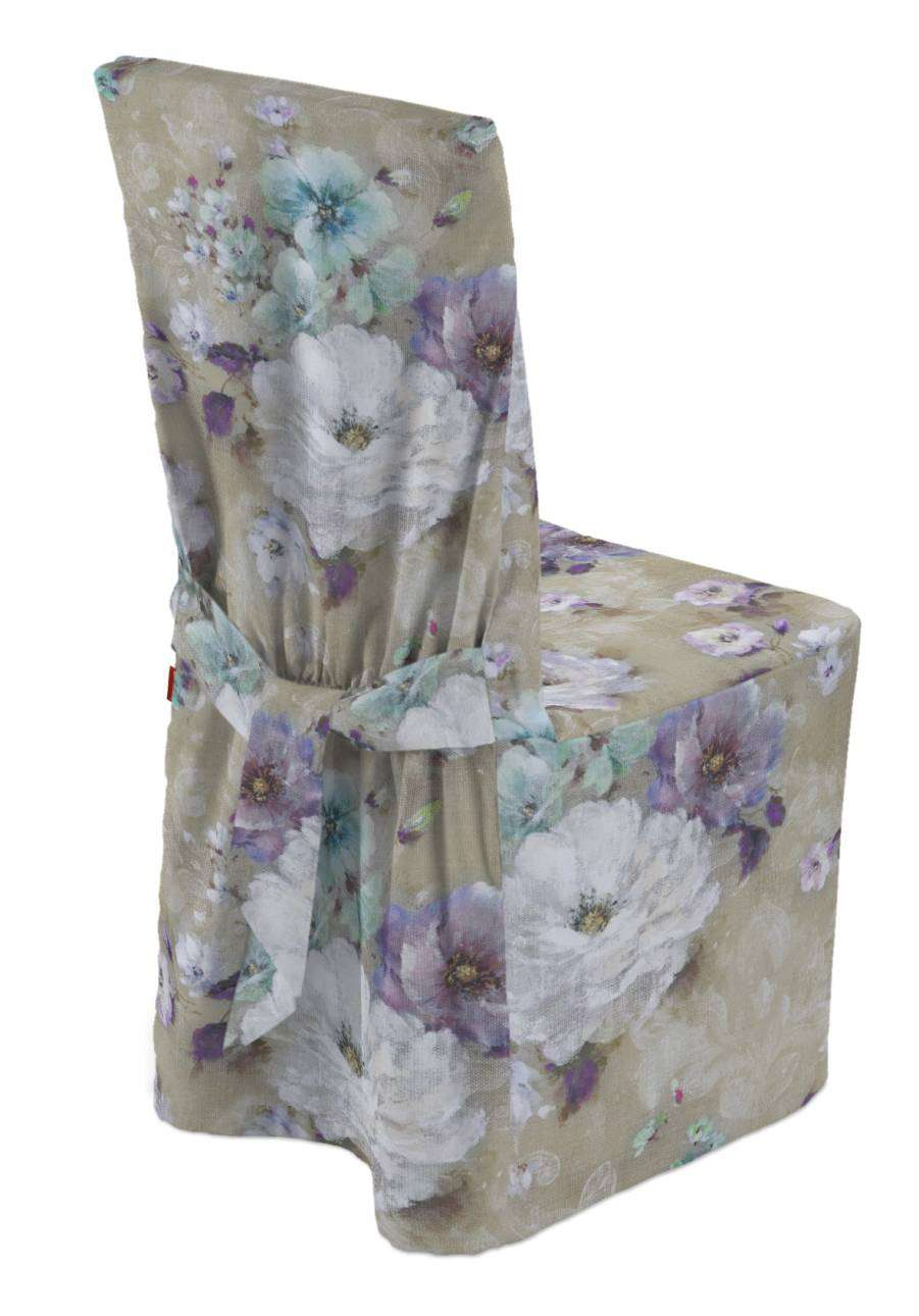 Standard and made to measure chair cover 45 × 94 cm (18 × 37 inch) in collection Monet, fabric: 137-82
