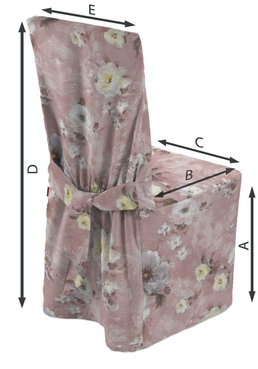 Návlek na stoličku V kolekcii Flowers, tkanina: 137-83