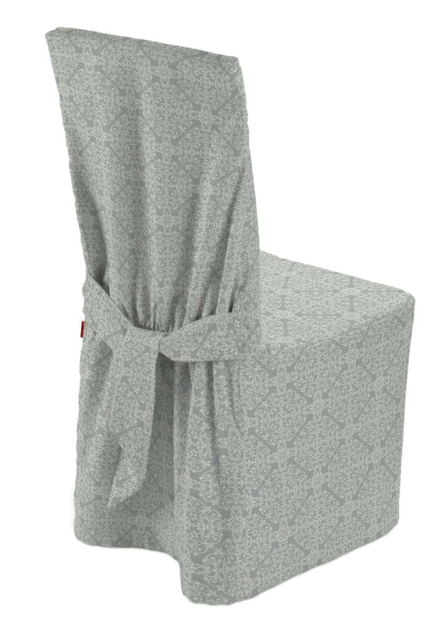 Standard and made to measure chair cover in collection Flowers, fabric: 140-38