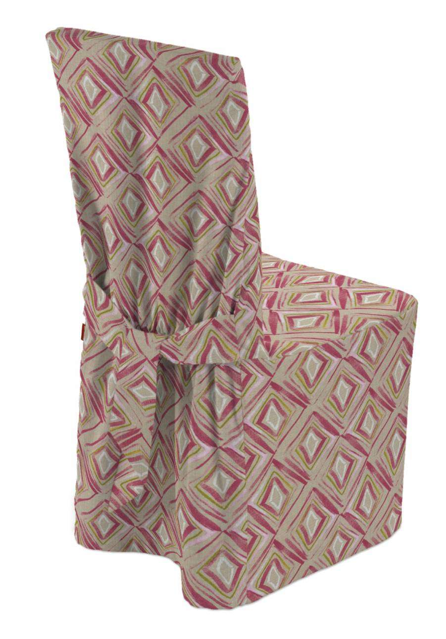 Standard and made to measure chair cover in collection Londres, fabric: 140-45