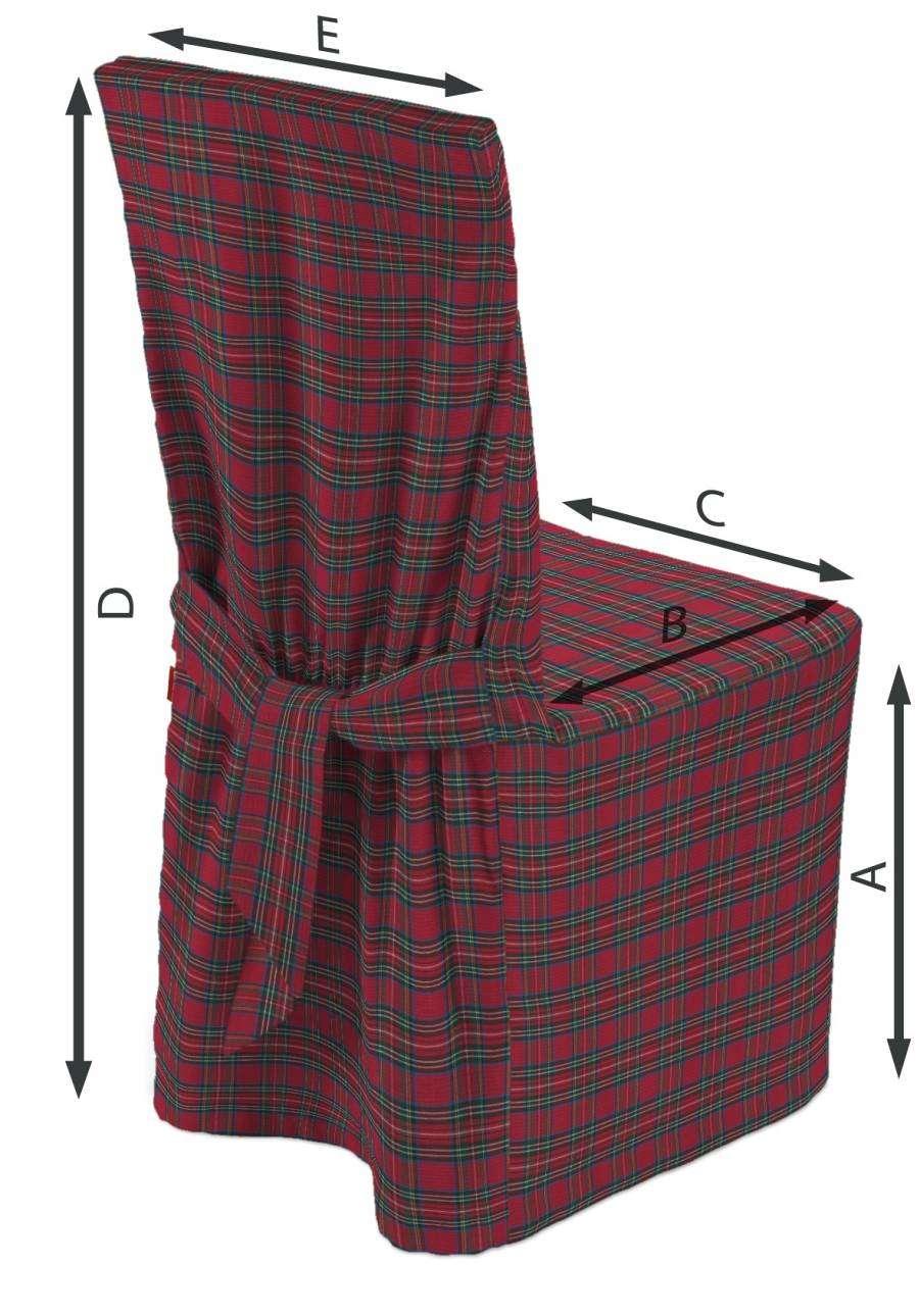 Sukienka na krzesło 45x94 cm w kolekcji Bristol, tkanina: 126-29