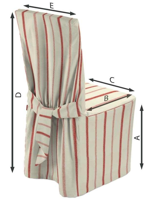 Sukienka na krzesło w kolekcji Avinon, tkanina: 129-15