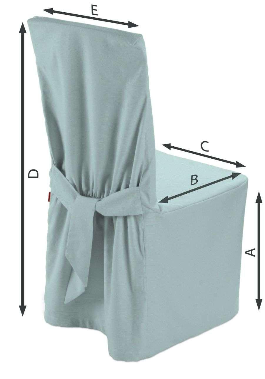 Sukienka na krzesło 45x94 cm w kolekcji Cotton Panama, tkanina: 702-10