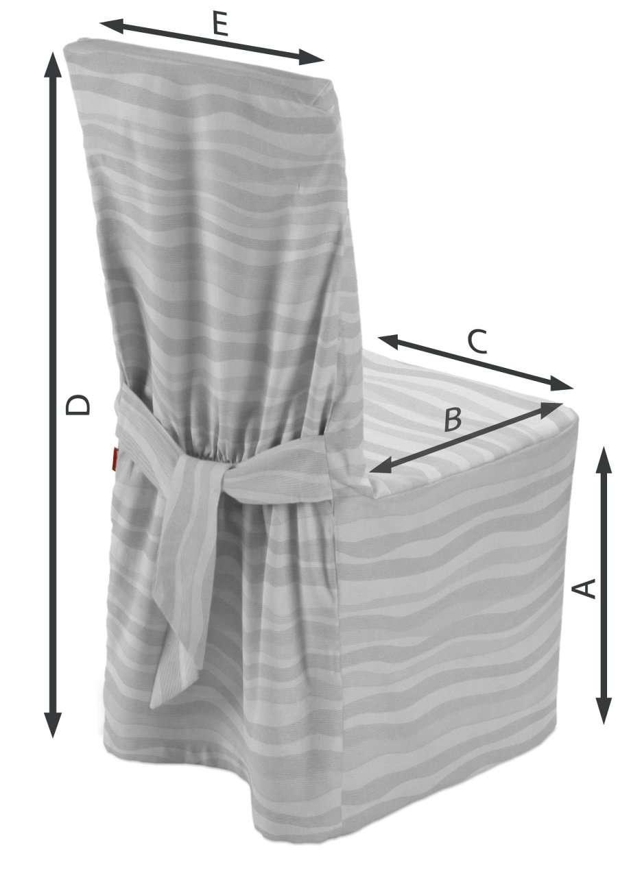 Sukienka na krzesło w kolekcji Damasco, tkanina: 141-72