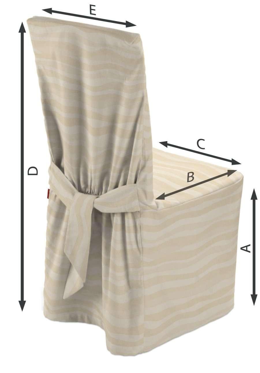 Sukienka na krzesło w kolekcji Damasco, tkanina: 141-76