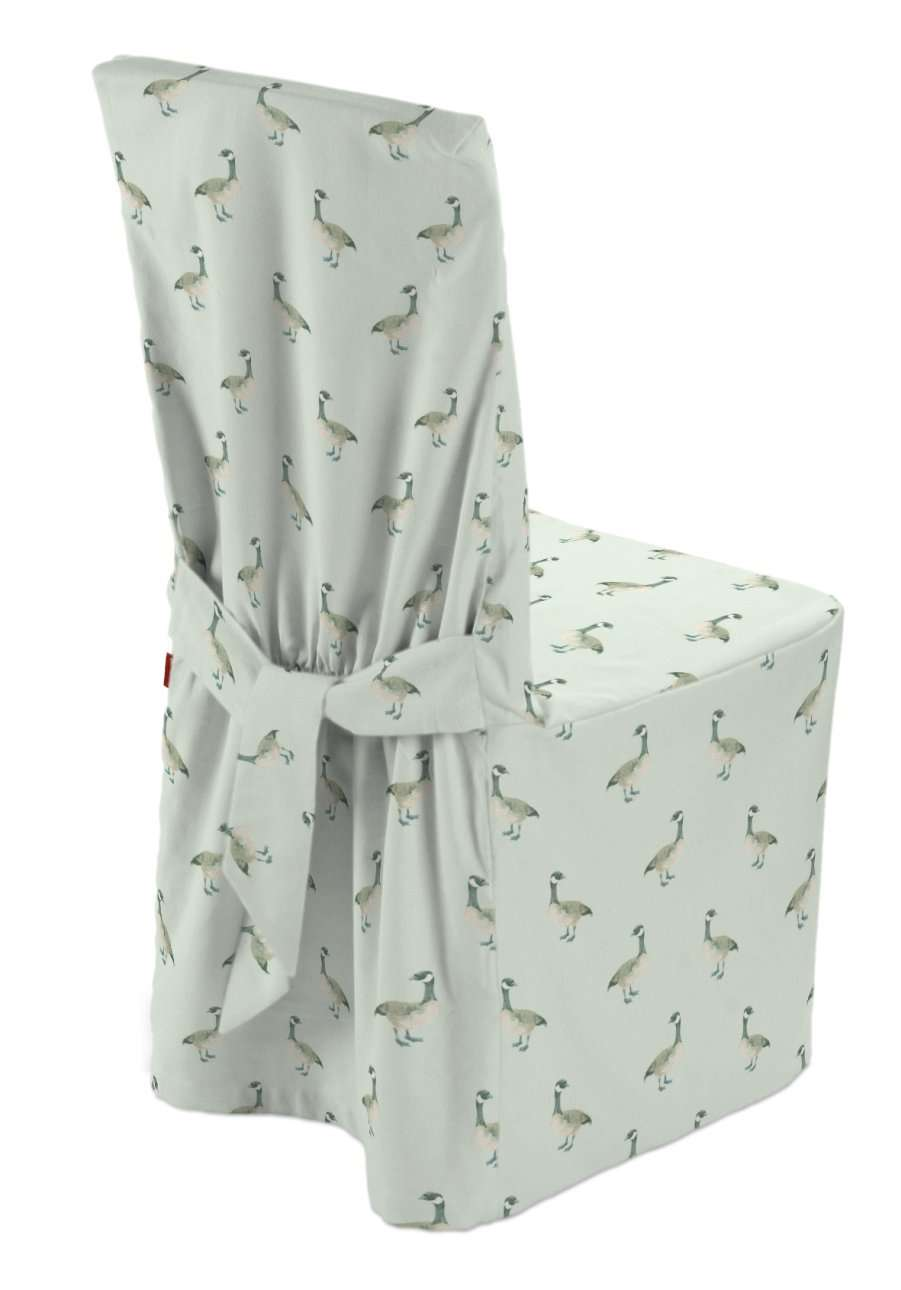 Standard and made to measure chair cover in collection Flowers, fabric: 141-79