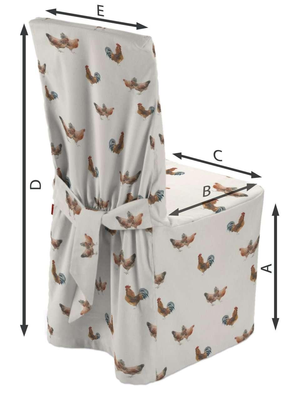 Návlek na stoličku V kolekcii Flowers, tkanina: 141-80