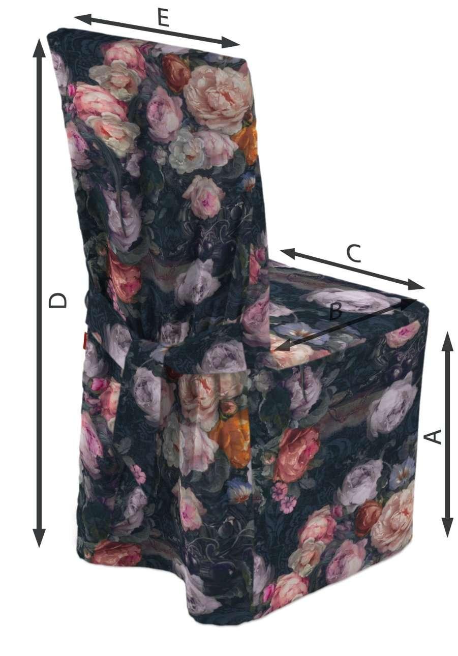 Návlek na stoličku V kolekcii Gardenia, tkanina: 161-02