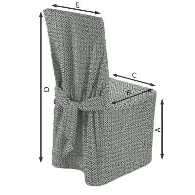 Návlek na stoličku V kolekcii Black & White, tkanina: 142-76