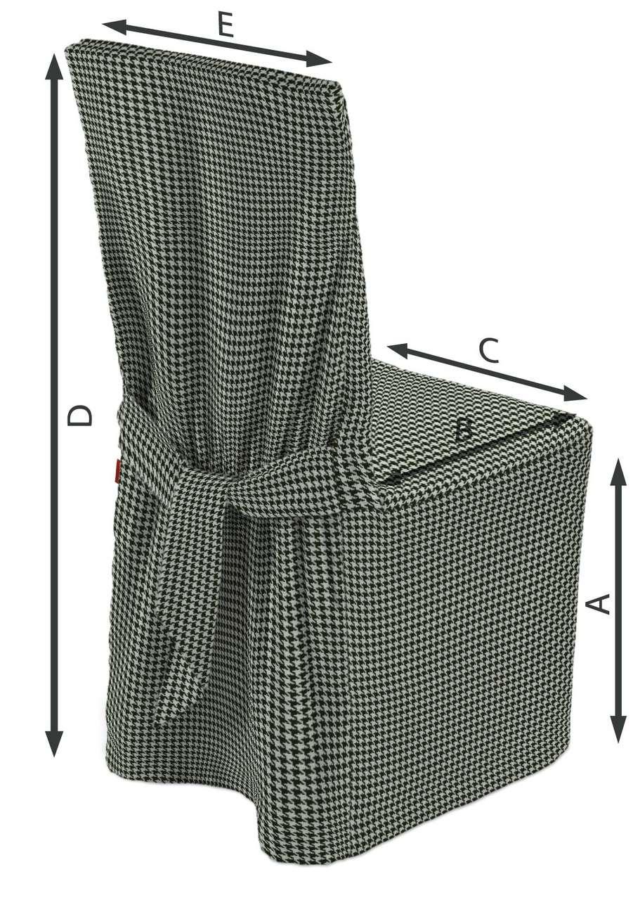 Návlek na stoličku V kolekcii Black & White, tkanina: 142-77