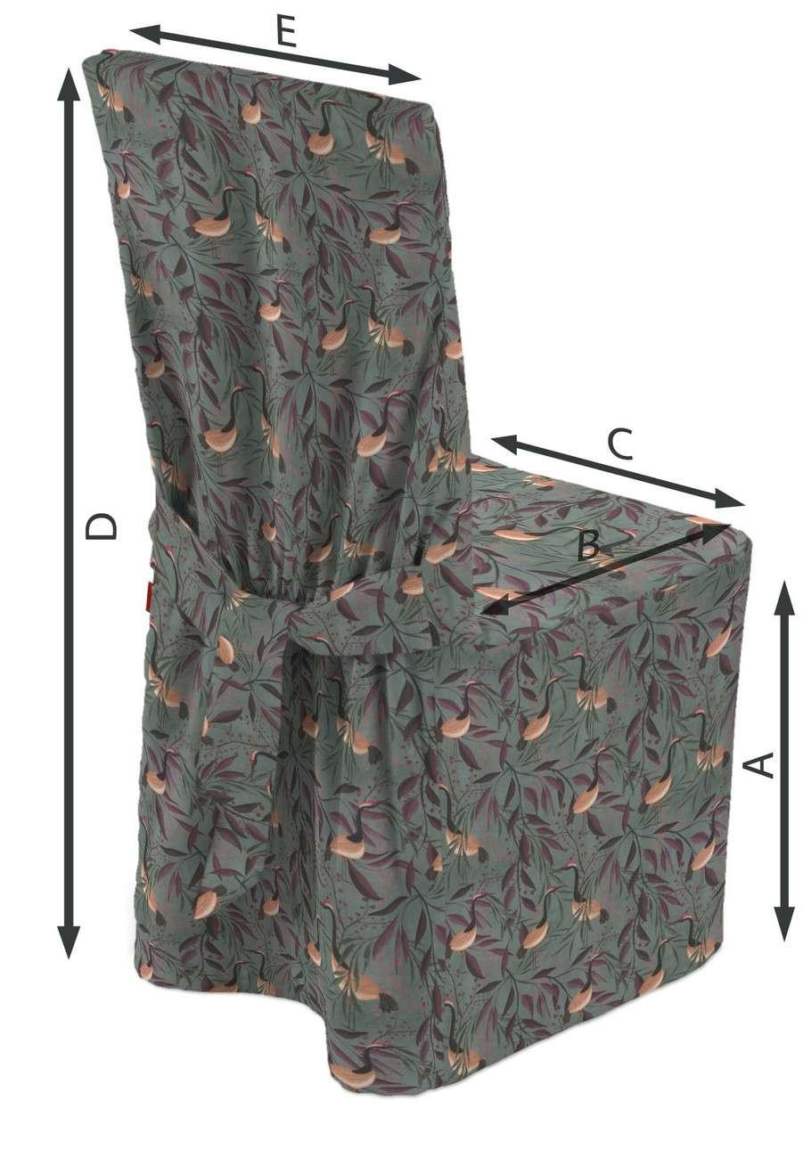 Sukienka na krzesło w kolekcji Abigail, tkanina: 143-11