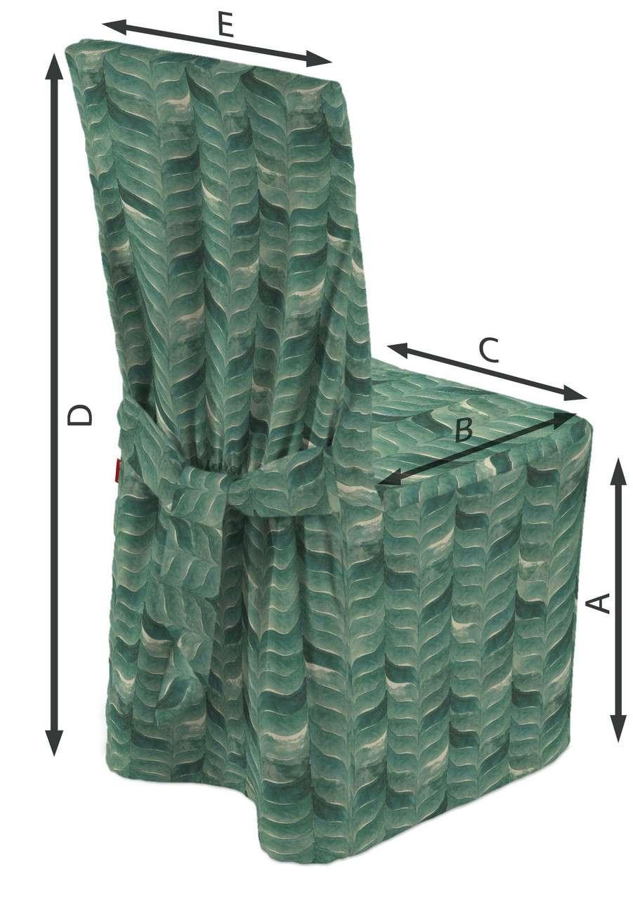 Sukienka na krzesło w kolekcji Abigail, tkanina: 143-16