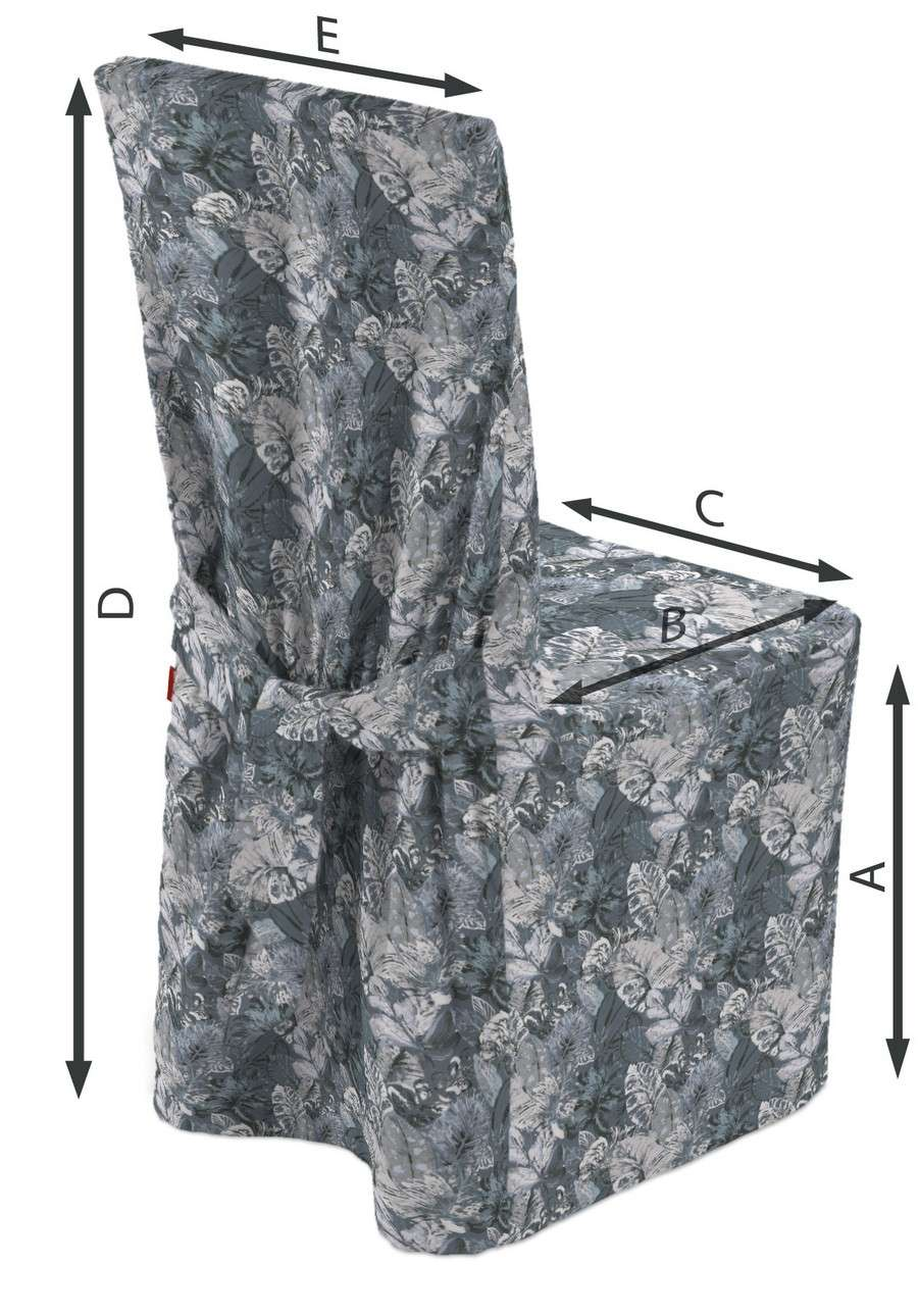 Sukienka na krzesło w kolekcji Abigail, tkanina: 143-18