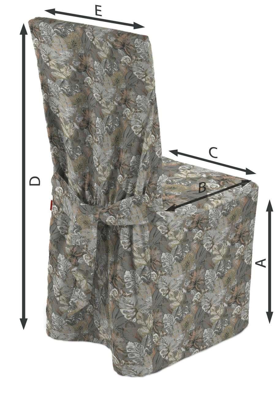 Sukienka na krzesło w kolekcji Abigail, tkanina: 143-19