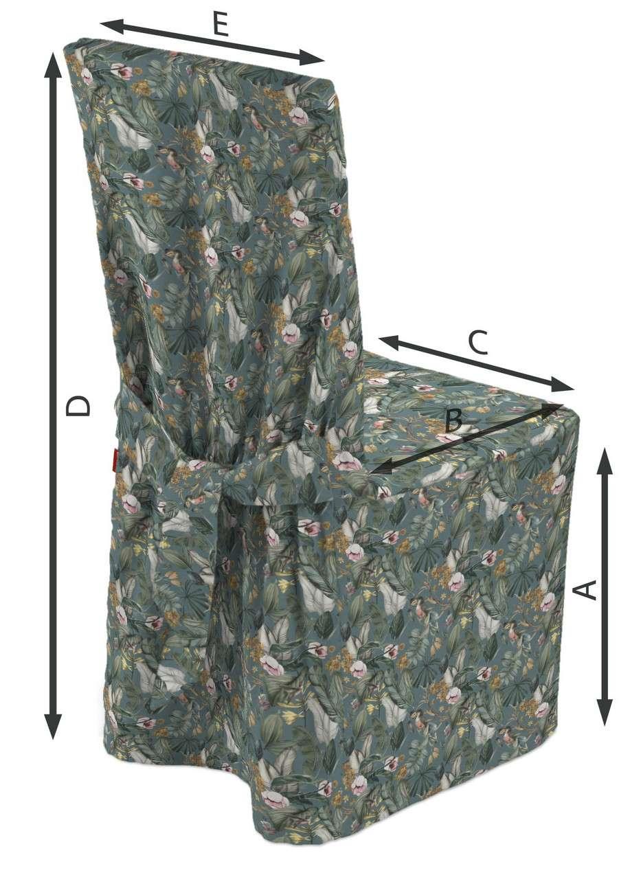 Sukienka na krzesło w kolekcji Abigail, tkanina: 143-24