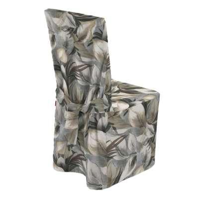 Návlek na stoličku 143-60 šedo - béžové listy Kolekcia Abigail