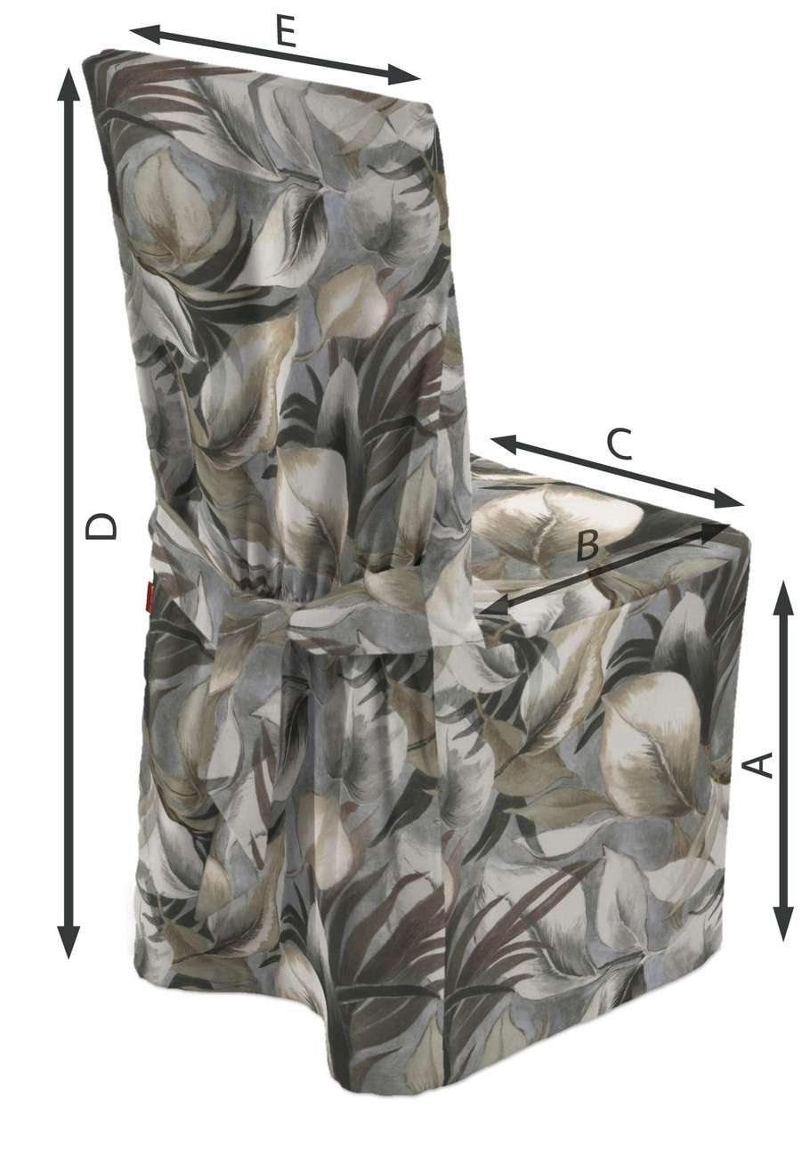 Sukienka na krzesło w kolekcji Abigail, tkanina: 143-60