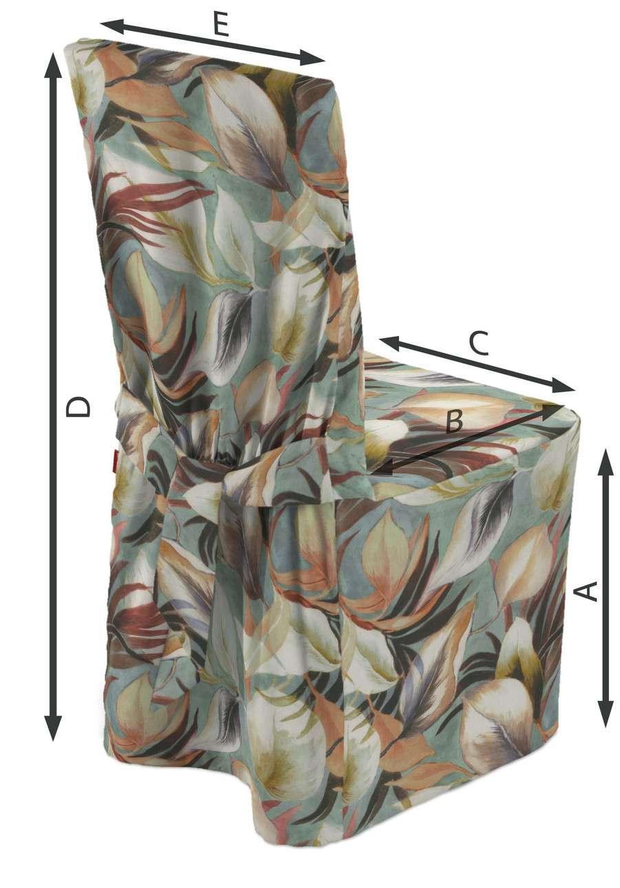 Sukienka na krzesło w kolekcji Abigail, tkanina: 143-61