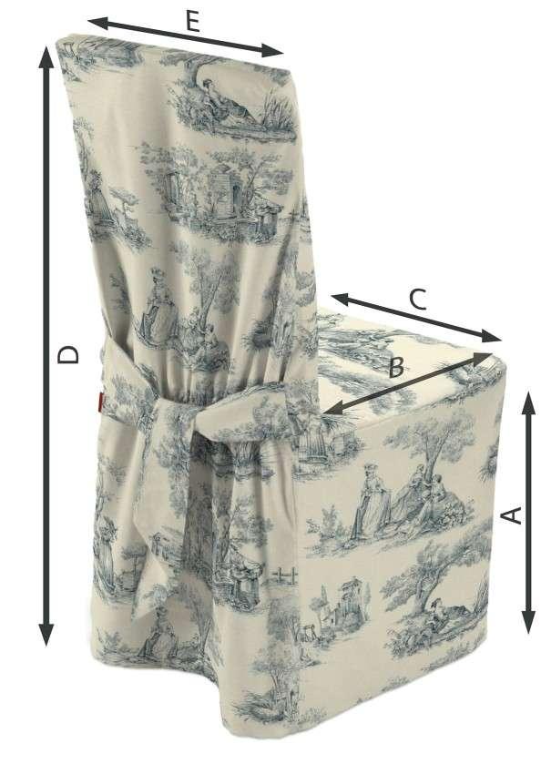 Sukienka na krzesło 45x94 cm w kolekcji Avinon, tkanina: 132-66