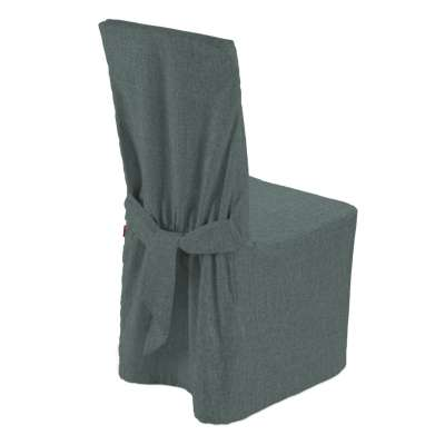 Standard and made to measure chair cover 704-85 gray blue chenille Collection City