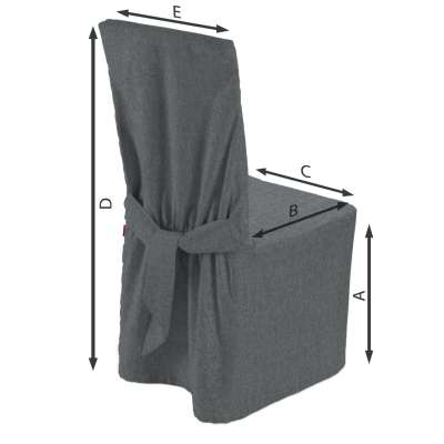Standard and made to measure chair cover 704-86 graphite - gray Collection City