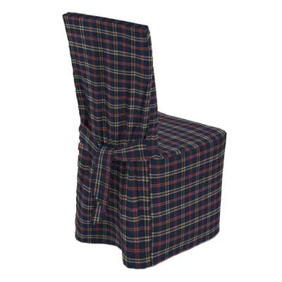 Standard and made to measure chair cover 142-68 dark blue and red check Collection Christmas
