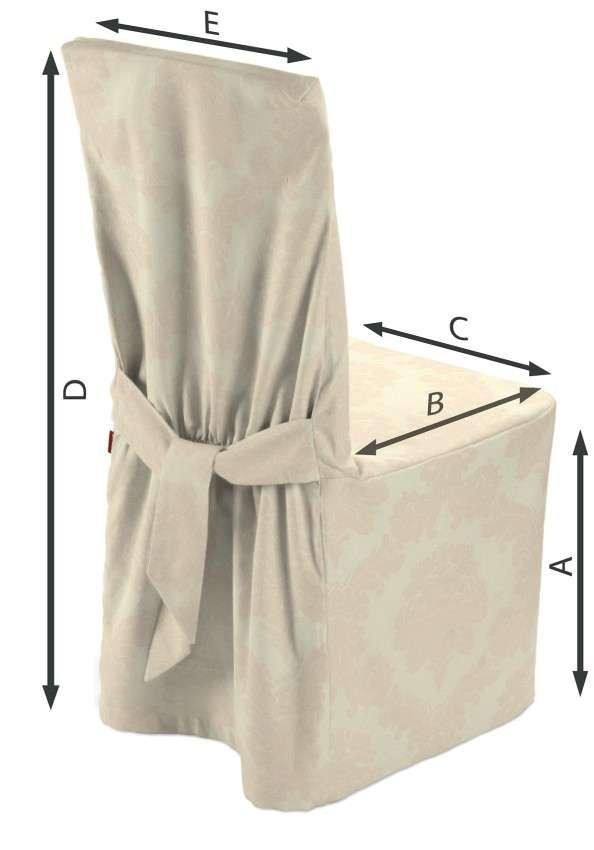 Sukienka na krzesło 45x94 cm w kolekcji Damasco, tkanina: 613-01