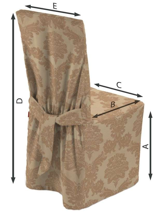 Standard and made to measure chair cover 45 x 94 cm (18 x 37 inch) in collection Damasco, fabric: 613-04