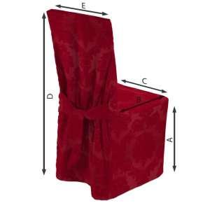 Sukienka na krzesło 45x94 cm w kolekcji Damasco, tkanina: 613-13