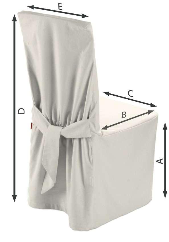 Sukienka na krzesło 45x94 cm w kolekcji Jupiter, tkanina: 127-00