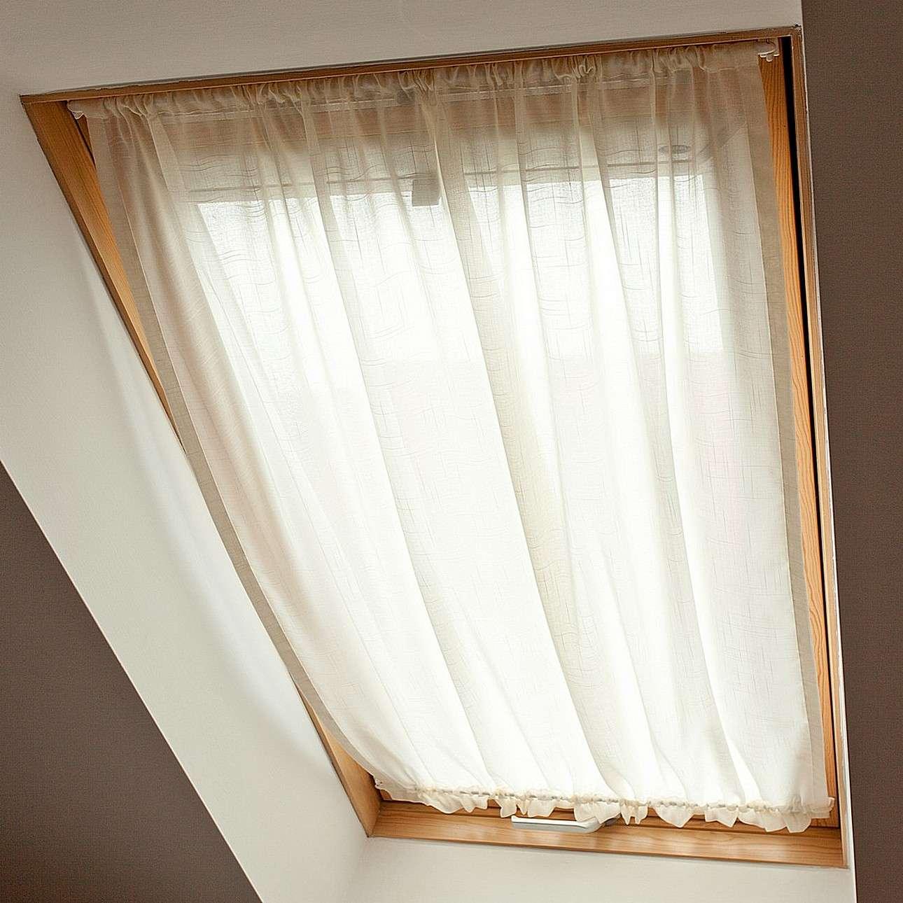 Zasłonka na okno dachowe 110x126+3cm grzywka w kolekcji Romantica, tkanina: 128-88