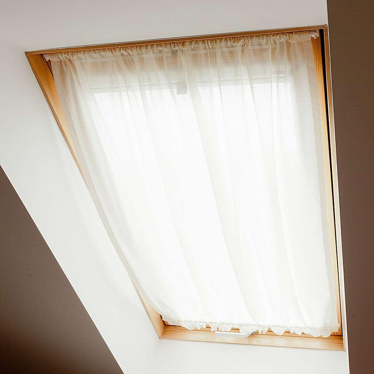 Függöny tetőtéri ablakra, átlátszó fehér, anyagában mintás ...