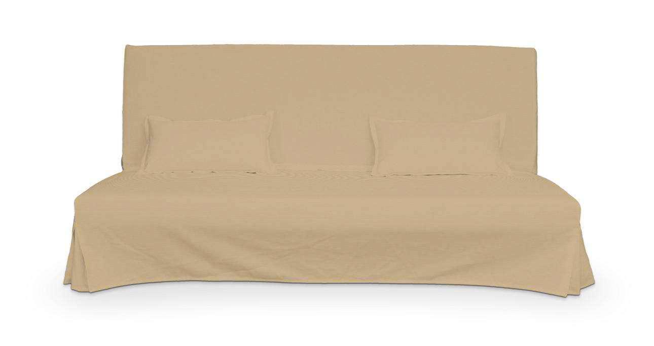 Bezug für Beddinge Sofa, lang mit zwei Kissenhüllen von der Kollektion Cotton Panama, Stoff: 702-01