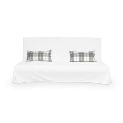 2 poszewki niepikowane na poduszki Beddinge 115-79 krata szaro-biała Kolekcja Edinburgh
