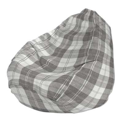 Babzsákfotel 115-79 fehér-szürke kockás Méteráru Edinburgh Bútorszövet