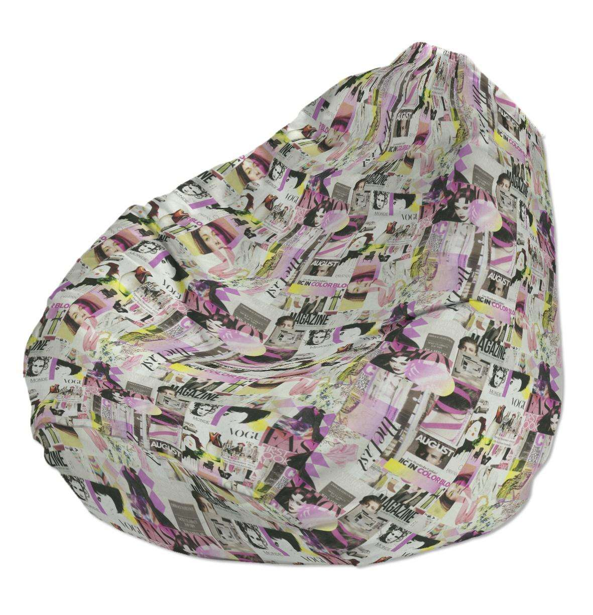 Beanbag Ø50 x 85 cm (20 x 33,5 inch) in collection Freestyle, fabric: 135-15