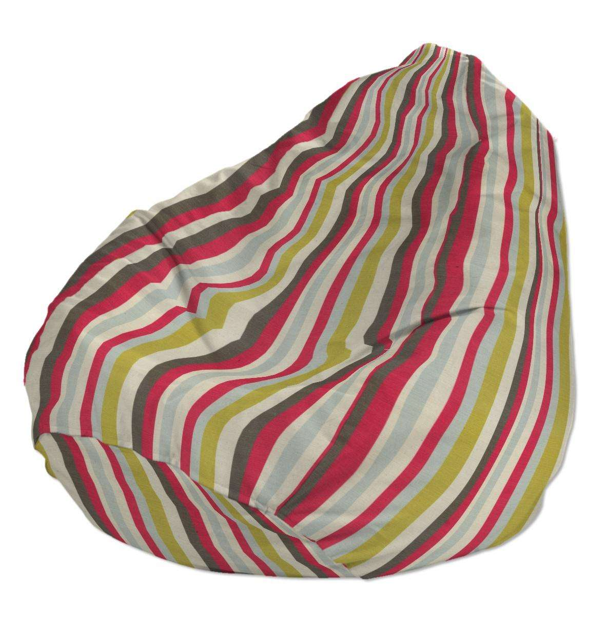 Beanbag Ø50 x 85 cm (20 x 33,5 inch) in collection Flowers, fabric: 140-81
