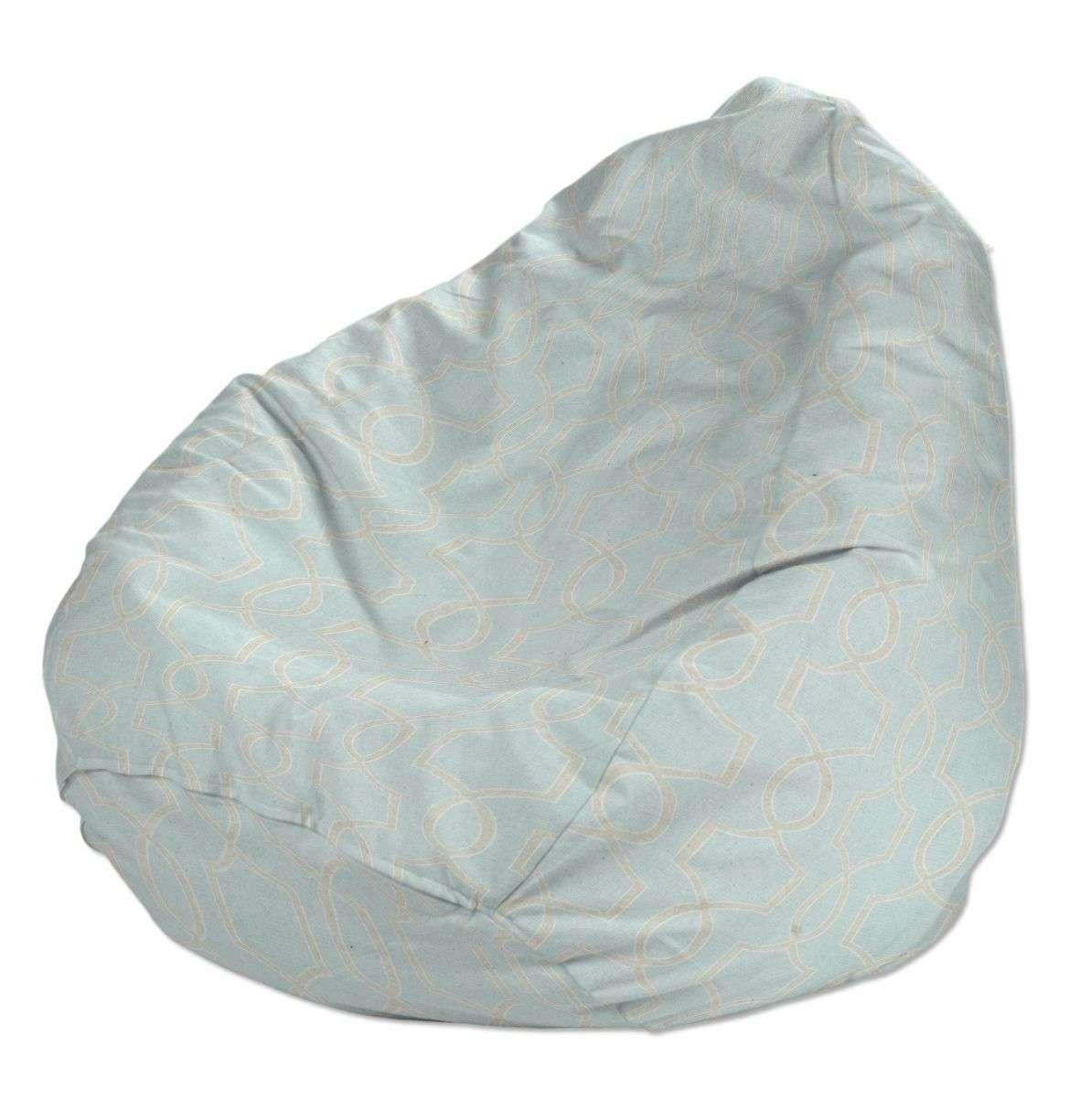 Sitzsack, grau-türkis, Ø50 × 85 cm, Comics | Wohnzimmer > Sessel > Sitzsaecke | Dekoria
