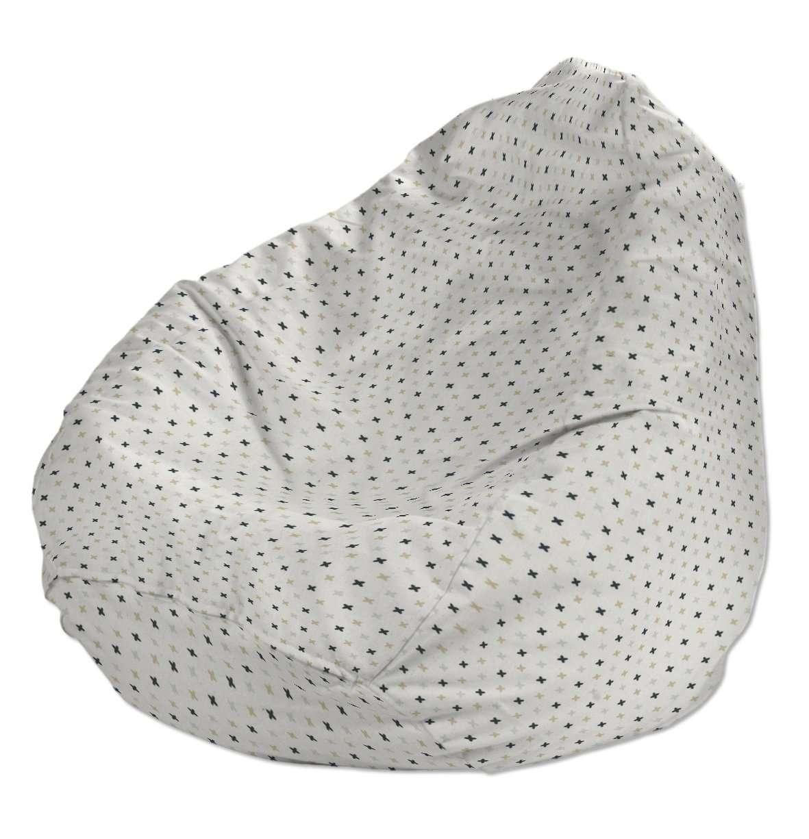 Sitzsack, weiß-schwarz-grau, Ø80x115 cm, Adventure | Wohnzimmer > Sessel > Sitzsaecke | Dekoria
