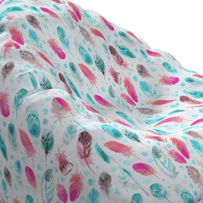 Worek do siedzenia Bowli 500-17 różowe i turkusowe piórka Kolekcja Magic Collection