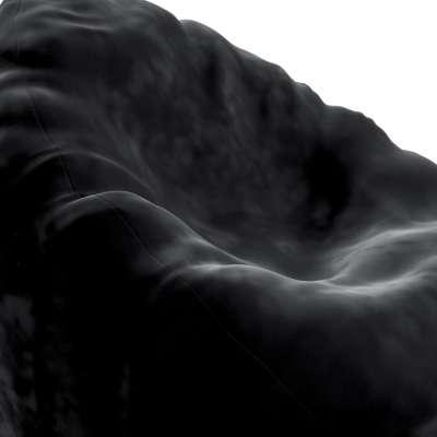 Sedací vak Bowli 704-17 tmavě černá Kolekce Posh Velvet