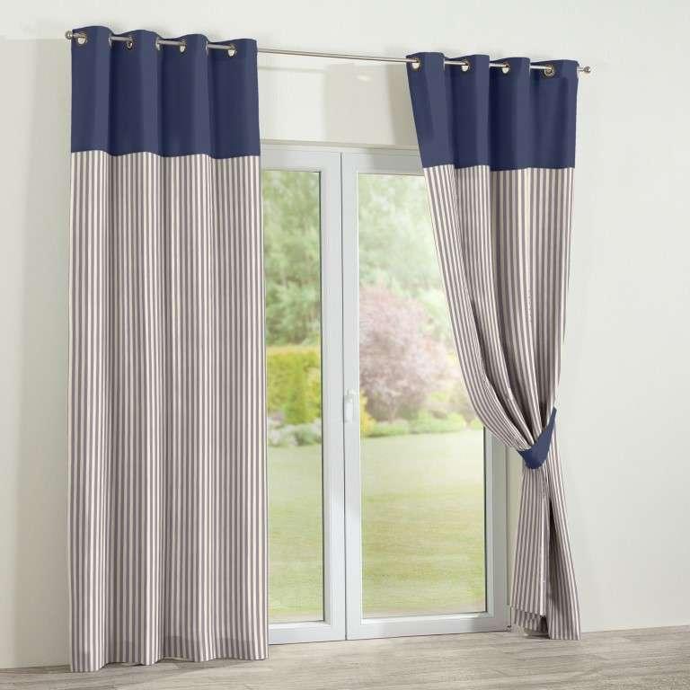vorhang duo mit sen marinenblau ecru 130x260cm dekoria. Black Bedroom Furniture Sets. Home Design Ideas
