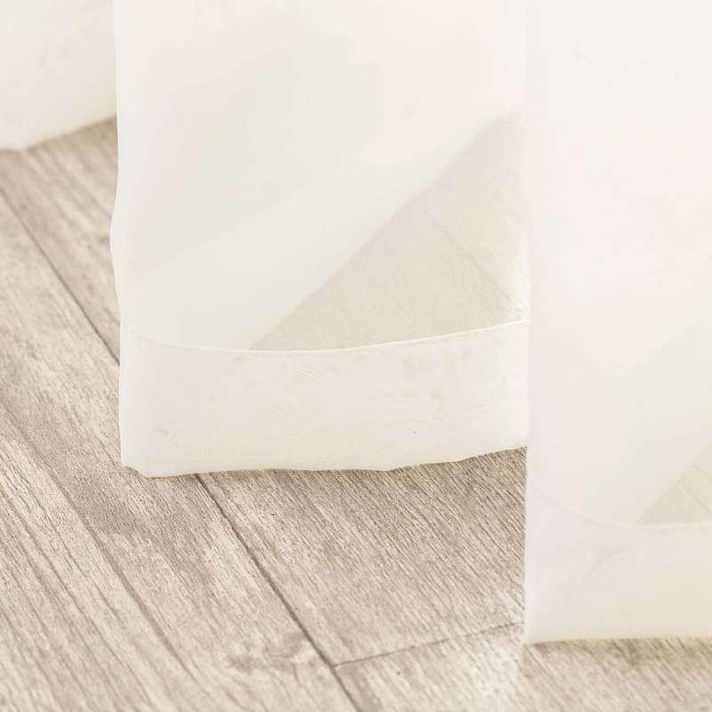 Voálová záclona na pásce v kolekci Soft Veil, látka: 900-01