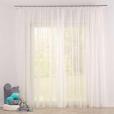 Voálová záclona na pásce 901-01 ecru / olovo Kolekce Soft Veil