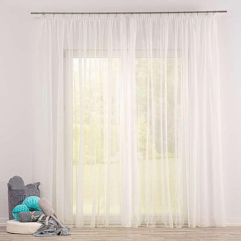 Voálová záclona na pásce v kolekci Soft Veil, látka: 901-01