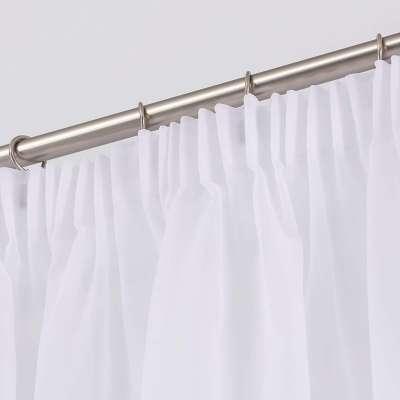 Gardine mit Kräuselband 901-00 weiss mit Bleiband Kollektion Soft Veil