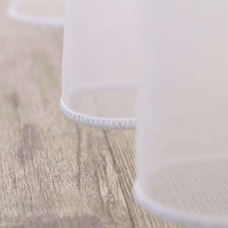 Voálová záclona na pásce v kolekci Soft Veil, látka: 901-00