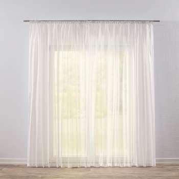 Záclona voálová jednoduchá s řasící páskou na míru