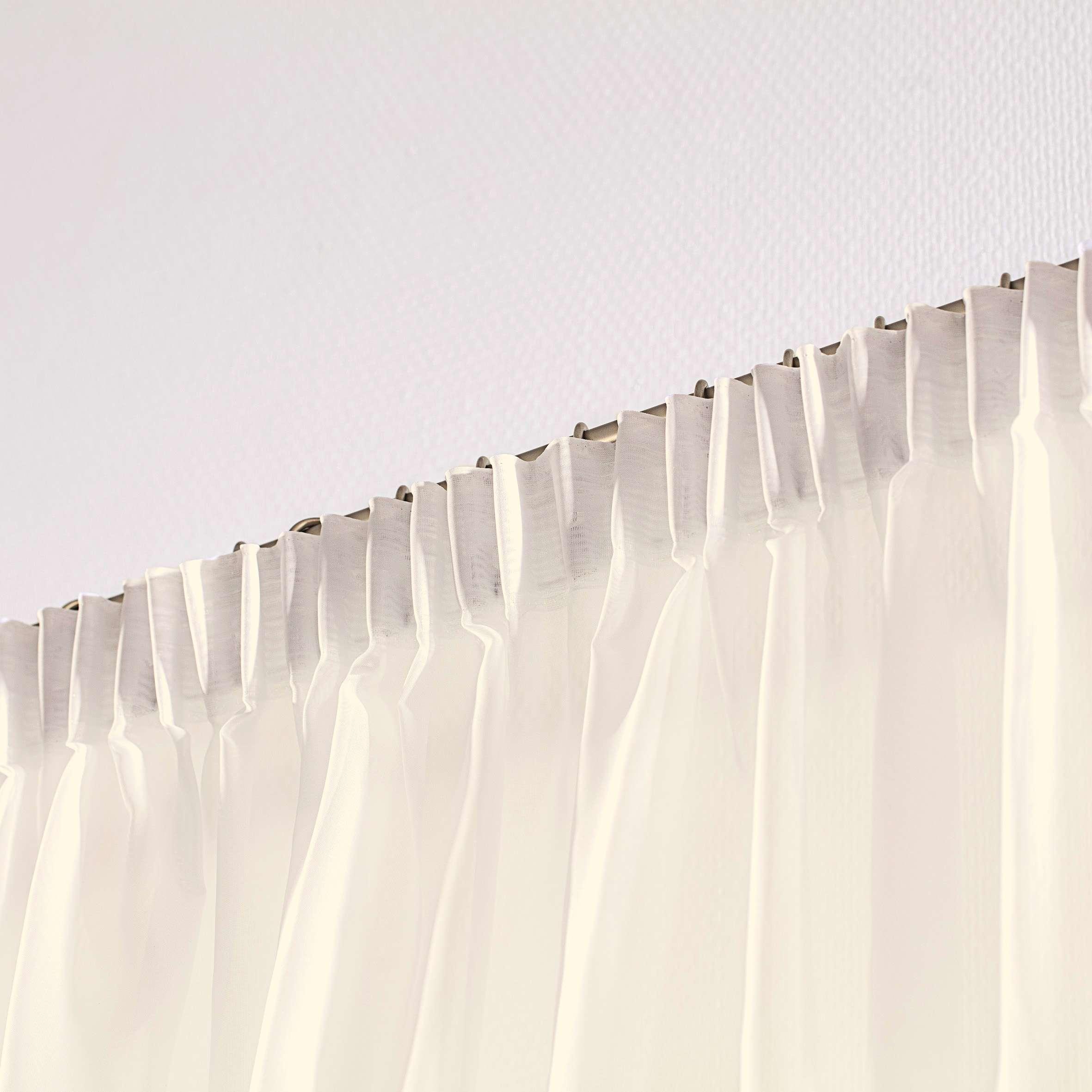 Záclona voálová jednoduchá s řasící páskou na míru 130 x 250 cm v kolekci Voile - Voál, látka: 900-01